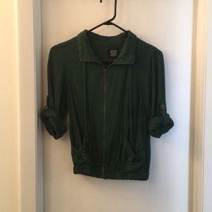 Emerald Green Bomber Jacket